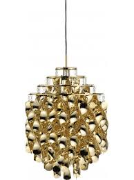 verner panton lighting. Pendant Lamp Verpan Spiral SP01 - Gold Design Verner Panton Lighting N