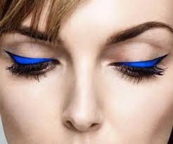 cool makeup ideas cobalt eyeliner