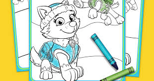 Paw Patrol Everest Coloring Pack Nickelodeon Parents