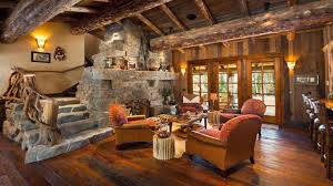 Log Cabin Living Room Decor Interior Stupendous Rustic Cabin Living Room With Stone Wood