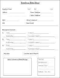 Employee Emergency Contact Form Template Employee Emergency Contact Template Emergency Contact Form