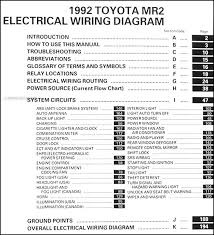 1992 toyota mr2 wiring diagram manual original covers all 1992 toyota mr2 models including turbo this book measures 11 69 x 16 75 and is 0 31 thick buy now for the best electrical information