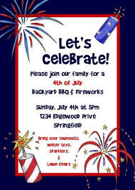 Fourth Of July Invitation Free Printable 4th Of July Free
