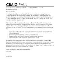 Best Puter Repair Technician Cover Letter Examples Best Solutions Of