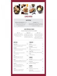 019 Restaurant Menu Template Microsoft Word Lunch Of Janpanese