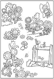 Tổng hợp các bức tranh tô màu phong cảnh mùa xuân đẹp nhất cho bé   Bunny  coloring pages, Garden coloring pages, Coloring pages for kids
