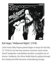 Pin By Bonnie On Bob Segsr In 2019 Bob Seger Hollywood
