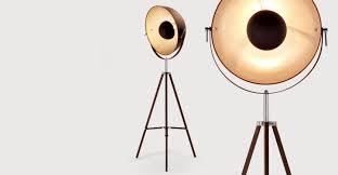 Chicago Staande Lamp In Antieke Koper En Goudkleur H O M E