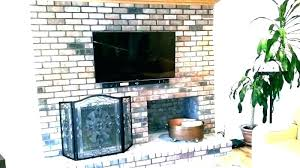 mount on brick fireplace hide wires to mounting tv