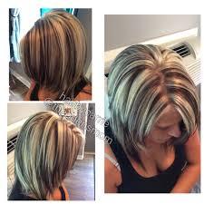 Chunky Highlights And Lowlights Platinum Hair
