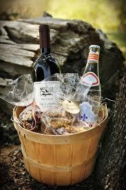 diy wine wedding gift basket