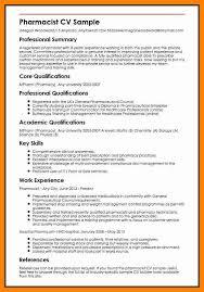 7 Pharmacy Curriculum Vitae Template Letter Signature
