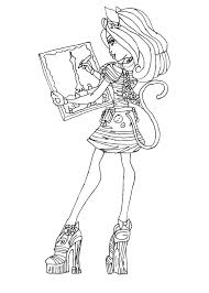 Monster High Coloring Pages To Print For Free Monster High Color