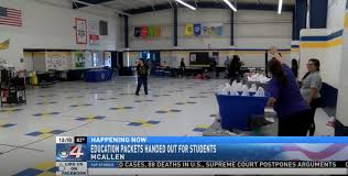 McAllen Victor Fields elementary school distributes 'distance learning  packets' | KVEO-TV