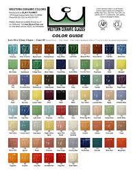 C Color Chart Western Color Chart Western Ceramic Glazes