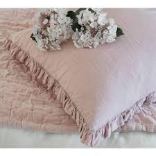 indian antique french cushions. Olivia Ruffle Pure Linen Blush Pink Cushion Indian Antique French Cushions