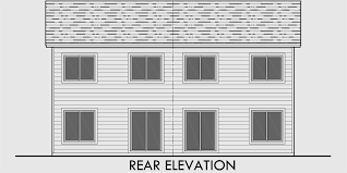 3 bedroom beach house plans. house side elevation view for d-599 duplex plans, 2 story plans 3 bedroom beach