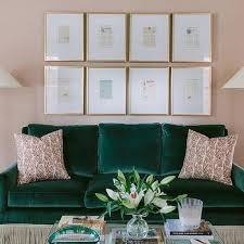 emerald green velvet sofa design ideas