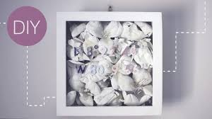 on 3d paper flower shadow box wall art with  diy floral shadowbox youtube