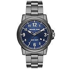 michael kors watches designer watches ernest jones michael kors men s ion plated bracelet watch product number 5273994