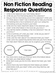 reading response questions for practically any book freebie