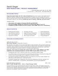 Web Production Manager Sample Resume Web Production Manager Sample Resume Shalomhouseus 2