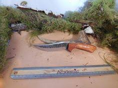 armageddon skinner hunting knife with marine by ericscustomknives
