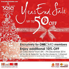 SaSa Christmas Year End Clearance Sale Fair 1 Utama