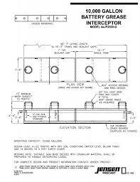 Jensen Precast Gravity Grease Interceptors Standard