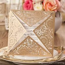 Wedding Card Design New Design Wedding Invitations Cards Gold Paper Blank Inner Sheet