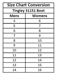 Tingley Boots Size Chart Best Walking Shoe Reviews