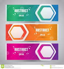 How To Design A Good Banner Three Color Design Banner Web Template With Modern And