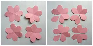 Flower Made By Paper Folding Diy Paper Flowers Folding Tricks 5 Steps With Pictures