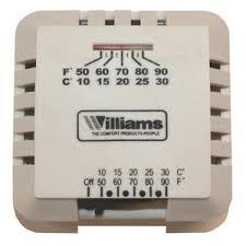 williams furnace mv wall thermostat p322016 ferguson Basic Thermostat Wiring williams furnace mv wall thermostat wp322016