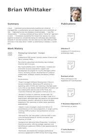Managing Consultant Resume Samples Visualcv Resume Samples Database