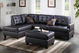 leather sectional sofas. Wonderful Sectional Espresso Faux Leather Sectional Sofa WOttoman For Sofas R