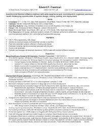 perl programmer resume resume of edward p freedman june 12 2015