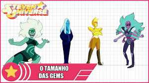 The Size Of Gems In Steven Universe