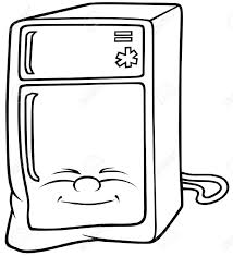 refrigerator clipart black and white. Simple Black With Refrigerator Clipart Black And White L