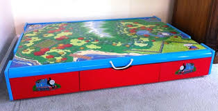 thomas the train wooden table the train under the bed trundle table free classifieds thomas the train wooden table