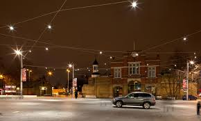 Beresford Square London Uk With Feature Catenary Lighting