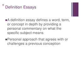 definition essay definition