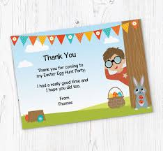Thank You Easter Boys Easter Egg Hunt Thank You Cards