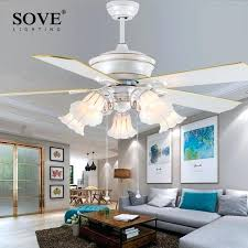 modern bedroom ceiling fans. 52 Inch Fan Modern White Ceiling Fans With Lights Restaurant Living Room Bedroom Light K