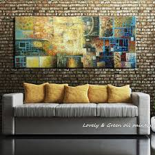 Oil Paintings For Living Room Hand Made Abstract Oil Painting On Canvas Modern Art Decorative