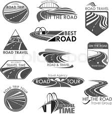 Road Trip Template Travel Company Or Tourist Trip Agency Stock Vector