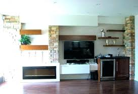 shelves next to fireplace wooden floating white over built in shelves fireplace floating next