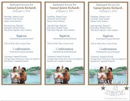 printable program templates printable baptism programburlap denim