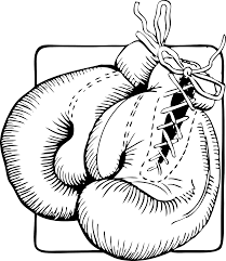 boxing glove coloring page