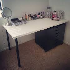 white table top ikea. Makeup Vanity - IKEA LINNMON White Table Top, ADILS Black Legs,  Top Ikea R